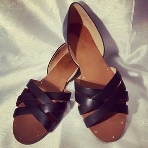 Madewell black leather US size 11 women's sandals